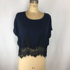 Melrose & Market Lace Detail Blouse